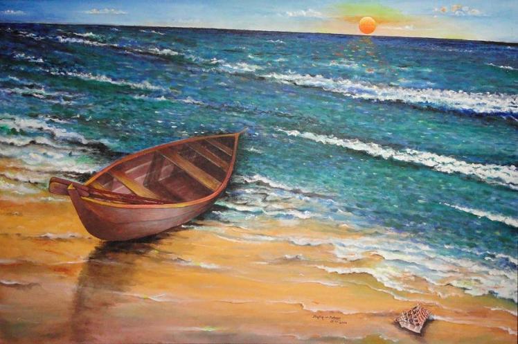 boat-and-sea-shafiq-ur-rehman