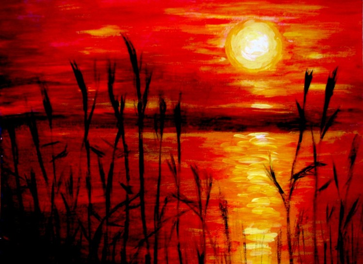 sunset_acrylic_painting_by_belka10